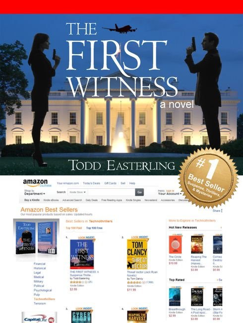 "The day sales of ""The First Witness"" passed a Tom Clancy novel."