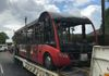 Fortunately nobody got injured or even singed on the bus, but the road will require fully resurfacing where the bus had melted into the tarmac!