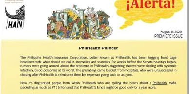 Premiere Issue PhilHealth Plunder August 8, 2020 (Saturday)  The Philippine Health Insurance , bette