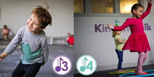 Level 3 classes for ages 3-4 Level 4 classes for ages 4-5