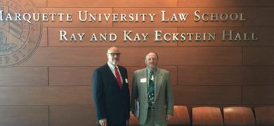 Jim Sanders making presentations at Marquette University Law School