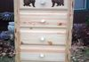 Bear 5 Drawer, Anlter Pulls, Slab Top