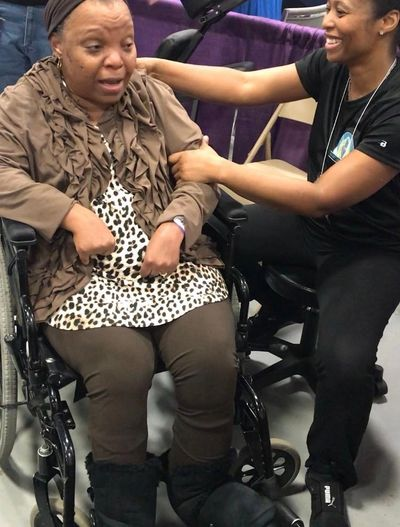 Increasing Range of Motion with a wheelchair bound client