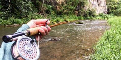 We offer custom built bamboo fly rods built by the owner of Root River Rod Co. Steve Sobieniak