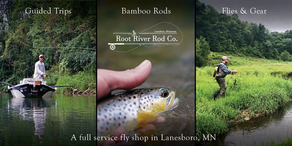 Full Service Fly Shop Lanesboro Minnesota Fly Fishing Driftless Root River Guided Trips Bamboo Rod
