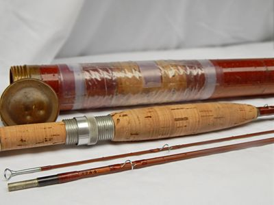 Orvis 7 1/2' Battenkill Bamboo fly fishing rod from 1959. reel seat has a cork filler. Lanesboro MN