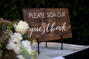 Sign our Guestbook wedding sign