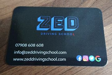 ZED Driving School business card