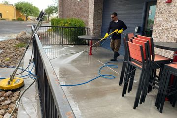 Restaurant Patio Pressure Washing