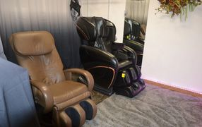 Massage chairs are available during salon hours or by appointment.
