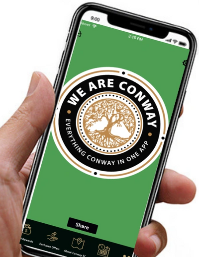 Conway App, Conway Deals, Conway SC, We Are Conway SC, Loyalty Program Conway SC, Reward Program