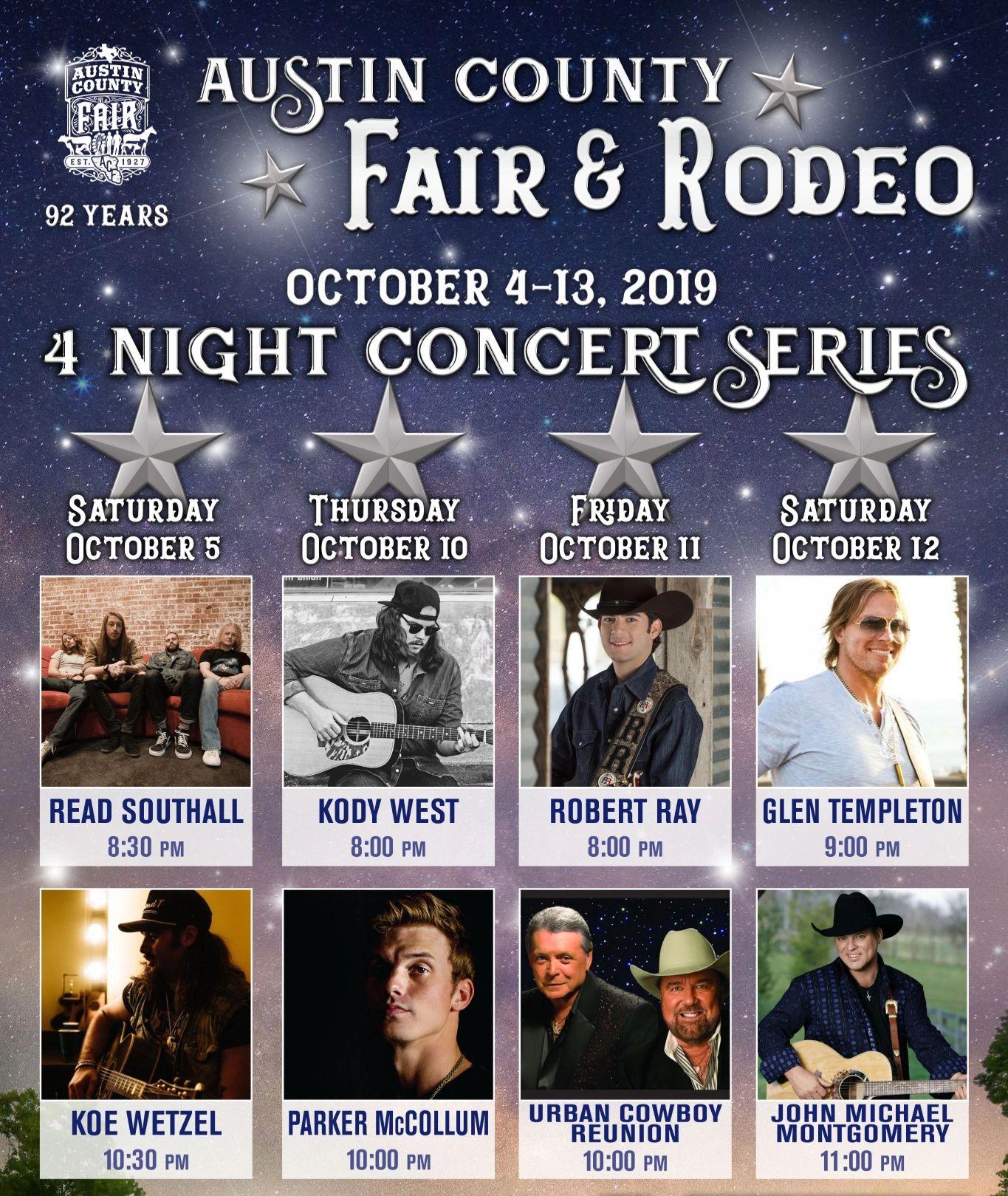 Montgomery County Fair 2020 Entertainment Concert.Austin County Fair Fair Event Center