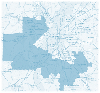 Michael Owens for Congress Map of the 13th Congressional District.