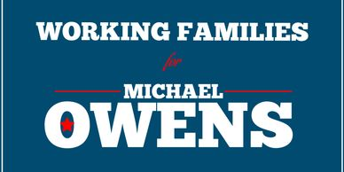 Michael owens for Congress. Working Families.  Supporting unions. Georgia GA13