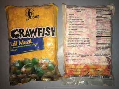 Seafood castle, PAFCO, h&t, Sunnyvale seafood corp, j Deluca fish co, crawfish Tail meat cooked squi