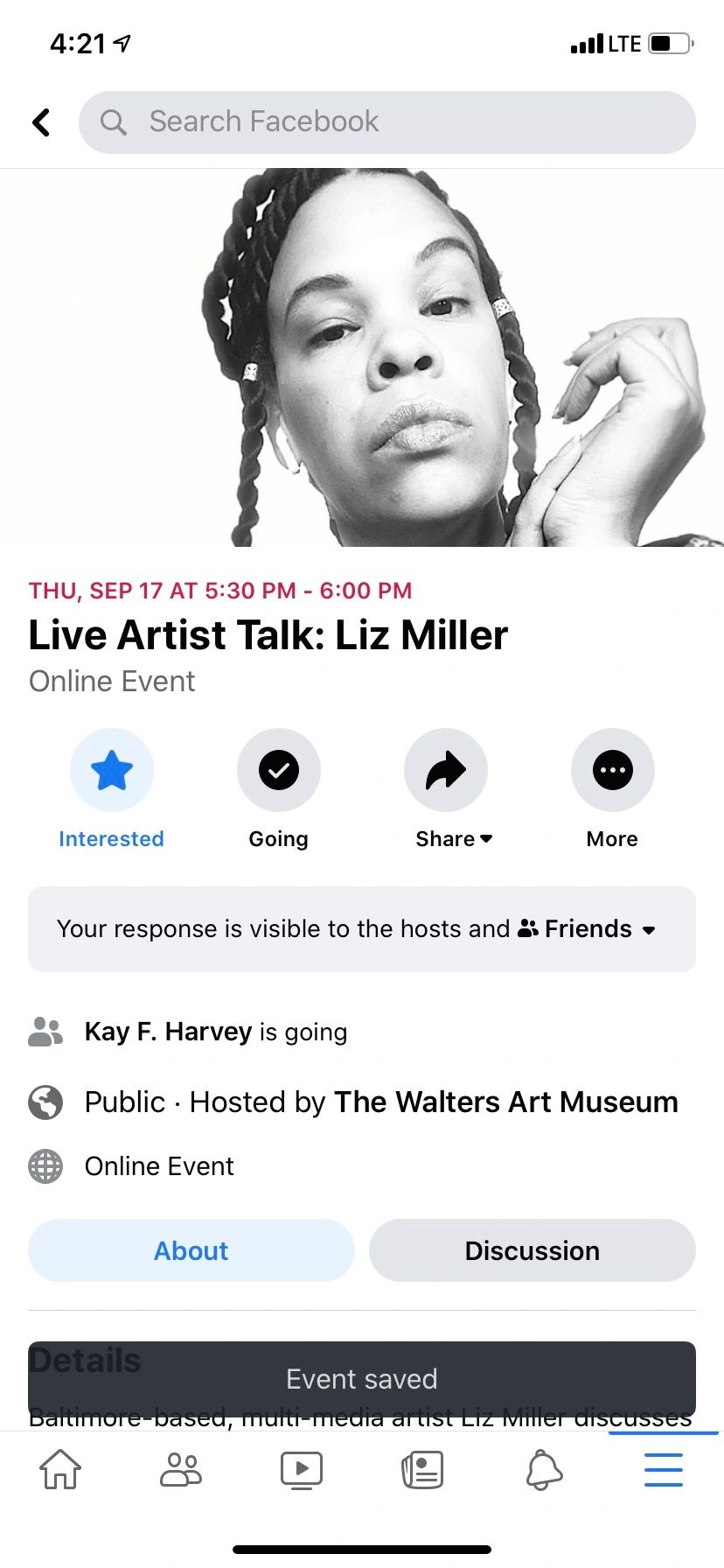Rescheduled to 12/3/2020- will be on the walters art museum fb page live