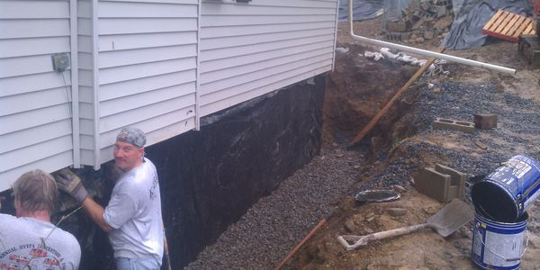 Foundation repair, waterproofing. Poughkeepsie, Dutchess County, New York