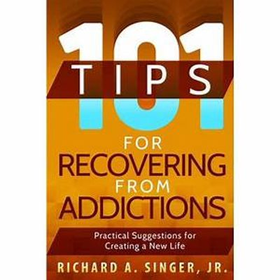 101 Tips for Recovering from Addictions book cover image.