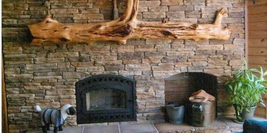 These log mantles are truly a work of art. Go with carved if for setting things on