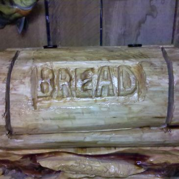 Chainsaw Carved Bread Box. There's no end to what we can do.