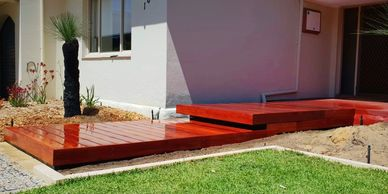 hardwood decking wood jarrah deck