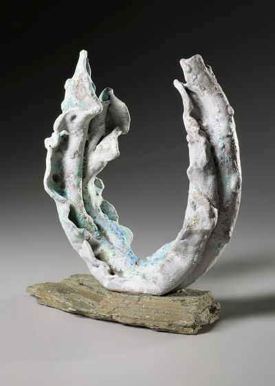 pottery, clay,  coral sculpture  barnacle glaze, free formed sculpture  sea sculpture,
