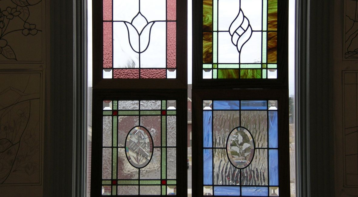 Examples of leaded glass projects from our Beginner Stained Glass Class