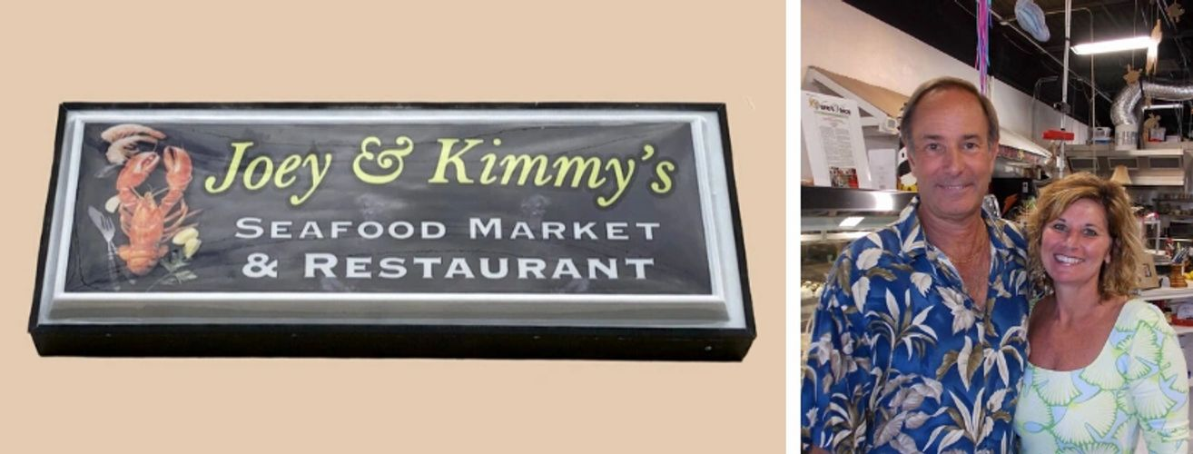 Joey & Kimmy's Seafpod Market & Restaurant is our new name! We celebrate our 10 yr anniversary.