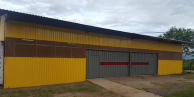 Our newly remodeled auto mechanics building.
