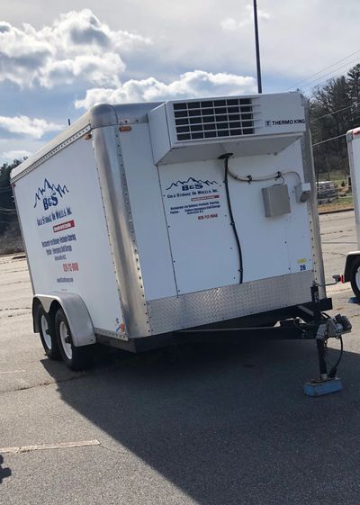Rent a portable walk-in refrigerated cooler or freezer  trailer delivered to your location