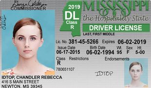 Mississippi Drivers License