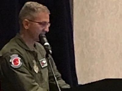 Lt. Col. Jeff Ragusa chief pilot for the 53rd Weather Reconnaissance Squadron, Hurricane Hunters.
