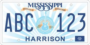 Mississippi Car Tag