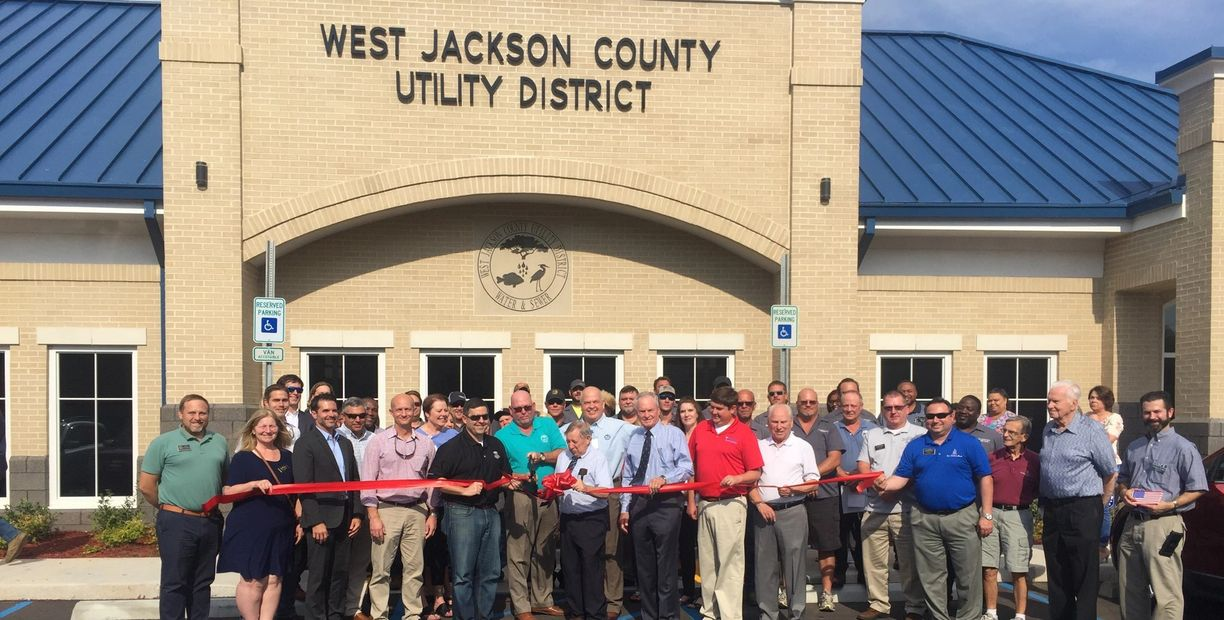 West Jackson County Utility District cuts the ribbon on there new office complex in St. Martin, Ms.