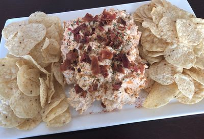 PepperNutz ROC'n Reaper carolina reaper hot sauce infused bacon and cheese chip dip