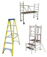 Access equipment alloy tower ladder steps