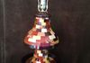 "#435 Lamp (Multiple Woods) 11"" dia. x 26"" tall. 301 pieces of wood. $299.00"