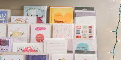 We have a wide variety of greeting cards for any occasion.