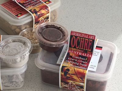 Red Ochre collected from the Earth red ochre paint ochre is traditionally used by aboriginal people