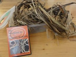 Hibiscus Bark collected washed and prepared for String Making...With the Instructional DVD,