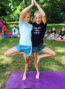 tree pose partner tree pose kids yoga The YOgataters Empower YOUth retreats