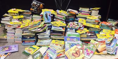 Book Collection for Project Ed Bear in collaboration with National Gives Back. books