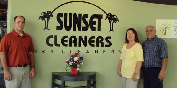 Business owners at the Dry Cleaners