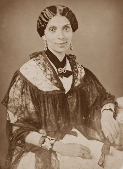 Mary Peake's portait, now in the archives of the Hampton University Museum.