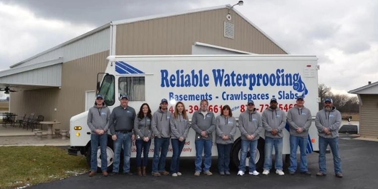 An image of our home basement waterpoofing team in Lima, OH