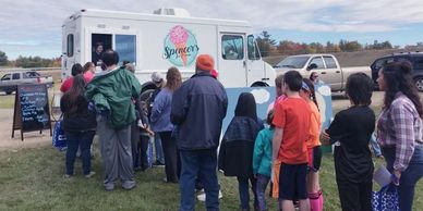 Spencer's Ice Cream in Bradley attends public food truck events like concerts & fundraisers. Bangor.