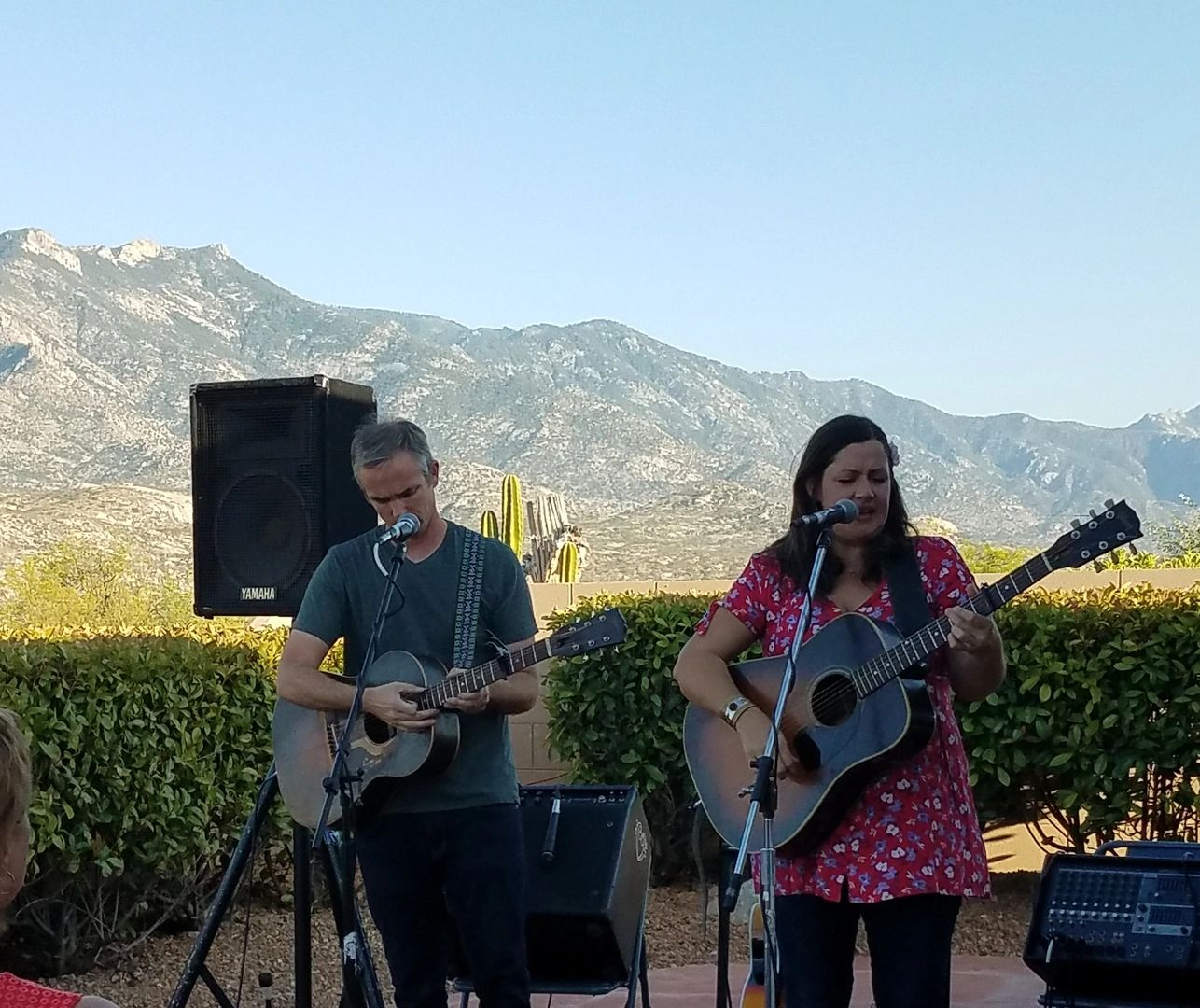 Nikki Talley and Jason Sharpe playing Catalina Concerts in Tucson.