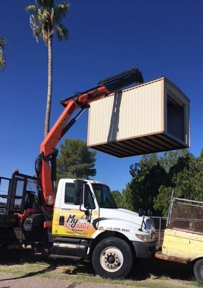 Delivering portable storage to your back yard