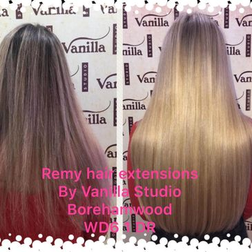 Herts hair extensions by Vanilla Studio