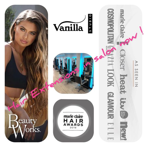 Vanilla Studio provide Beauty Works hair extensions for London clients